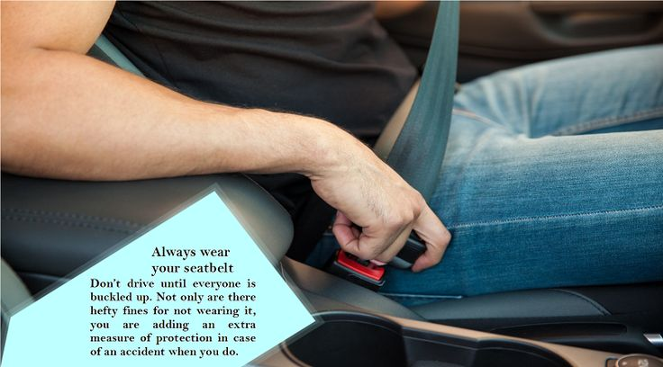 Wear Your Safety Belt Seat belts work because they distribute forces from a crash across the chest and pelvis, some of the strongest parts of the body. So that belt could mean the difference between getting a few bruises versus your body flying into the windscreen. #wintertyres