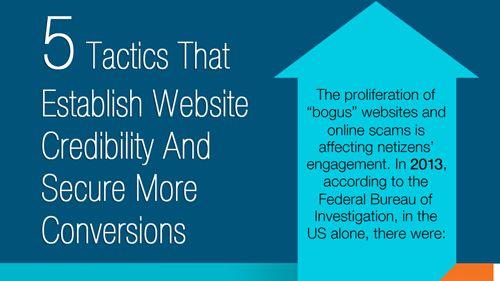 5 Tactics That Establish Website Credibility And Secure More Conversions