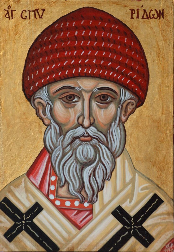Saint Spyridon of Trimythous. A great Saint for all Orthodoxy. Through his great devotion he worked miracles and became a great wonderworker. His relics are being kept in the island of Corfu. He is a treasure for this island and  the patron Saint of our shop, angelicon.
