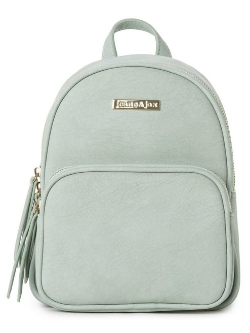 Compact Backpack - Mint | This mini pack features multiple zip compartments as well as adjustable straps! Made from 100% vegan leather and designed in Ontario. #torontofashion #CanadianDesigners #canadianfashion #canadianfashionblogger #canadiandesigner #canadianbrands #veganleather #veganfashion #crueltyfree #pixiemood #pixiemoodbag #vegantotes #backpack #veganpurse #purse #convertiblebag #convertiblebackpack #crossbodybag #crossbodypurse #crossbodyshoulderbag #springfashion #torontostyle