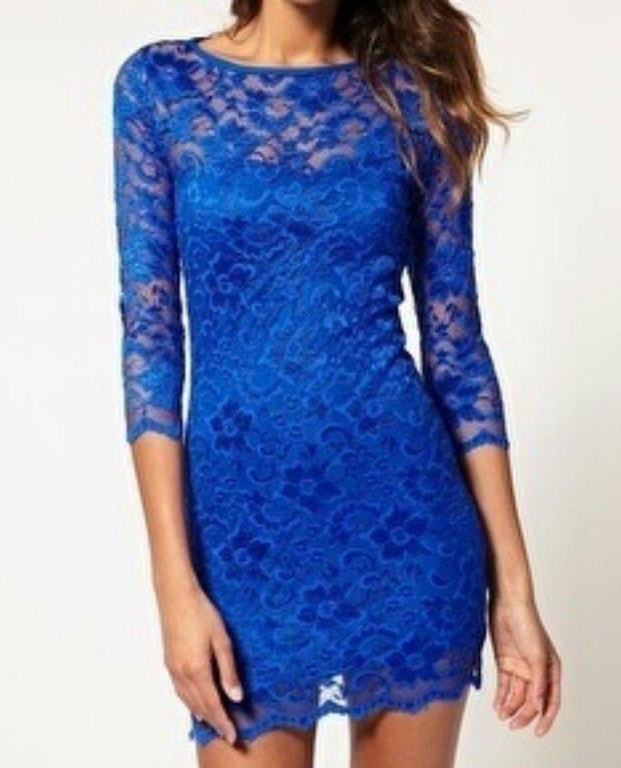 Royal Blue lace cocktail dress | TIDMTD | Pinterest