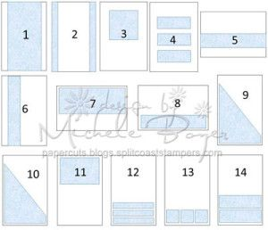 Michele Boyer - One Sheet Wonder Card Sketches - how to use the 12x12 paper strips for one sheet wonder cards!