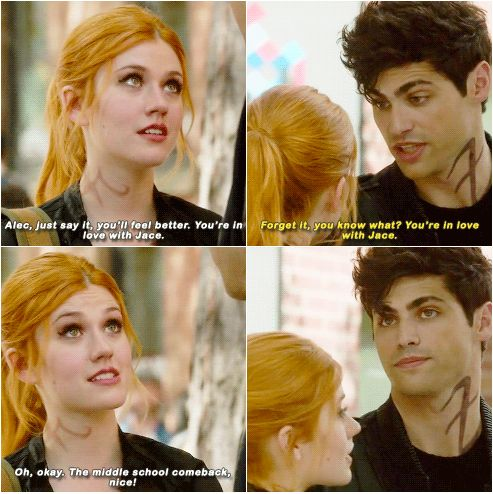 Alec Lightwood the master of childish comebacks || Shadowhunters || Alec Lightwood and Clary Fray || Alexander Gideon Lightwood and Clary Fairchild || Matthew Daddario and Katherine McNamara