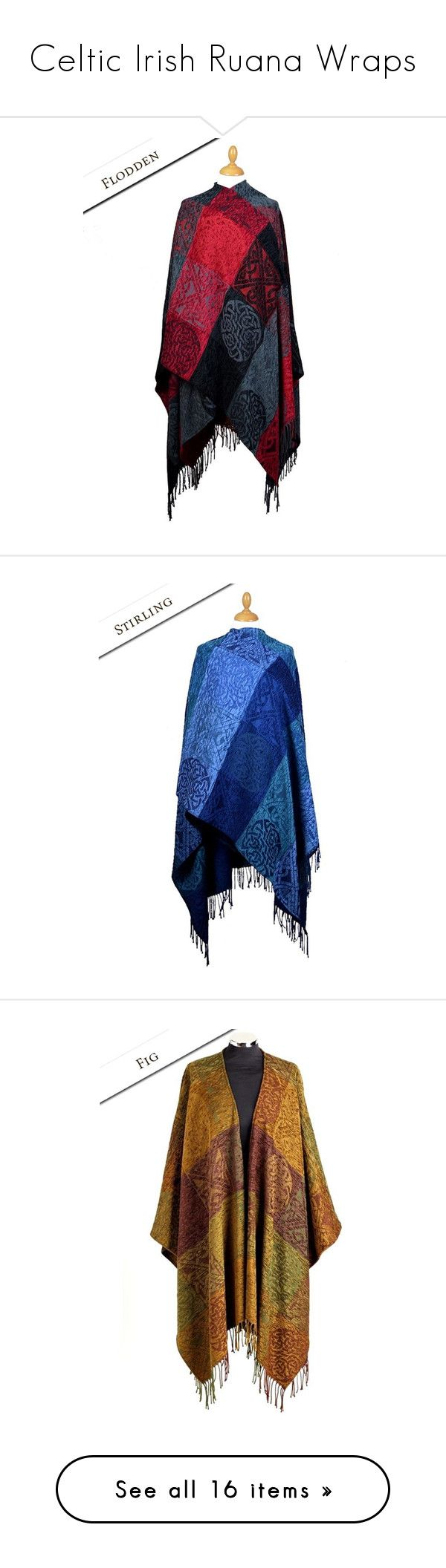 """""""Celtic Irish Ruana Wraps"""" by irishsweaters ❤ liked on Polyvore featuring shawl, accessories, scarves, wrap scarves, shawl scarves, wrap shawl, outerwear, cape, poncho and poncho cape"""