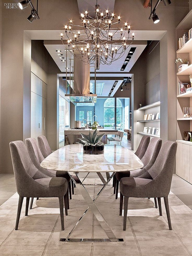 Gino Sarfatti Designed The Chandelier In A Dining Area Taste Of Italy Arclineas New York Flagship