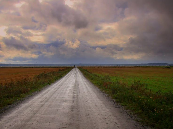 The road in old meteorite crater Sundom, Ostrobothnia province of Western Finland. - Pohjanmaa. - photo Eeku Strahl-