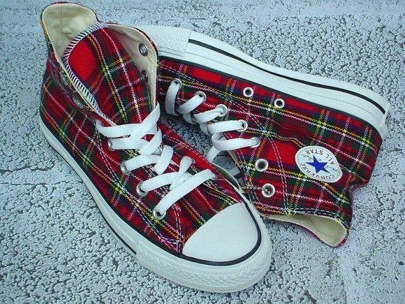 3 ~ tartan Converse All Stars ~ <3 | Scarpe, Tartan, Pantofole