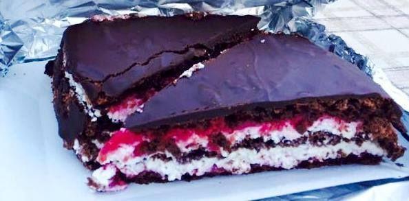 Málnás-túrós csokitorta