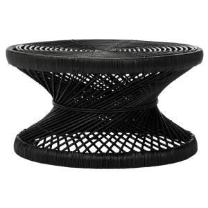 Safavieh Grimson Large Bowed Black Coffee Table-WIK6507A - The Home Depot