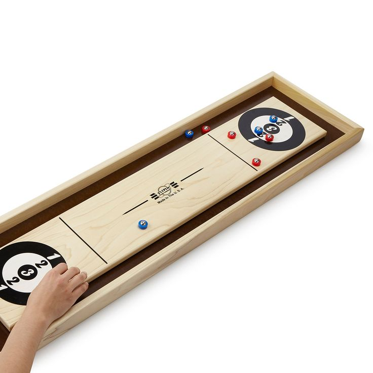 This is awesome!! TABLETOP SHUFFLE BOARD | wooden tabletop game | UncommonGoods
