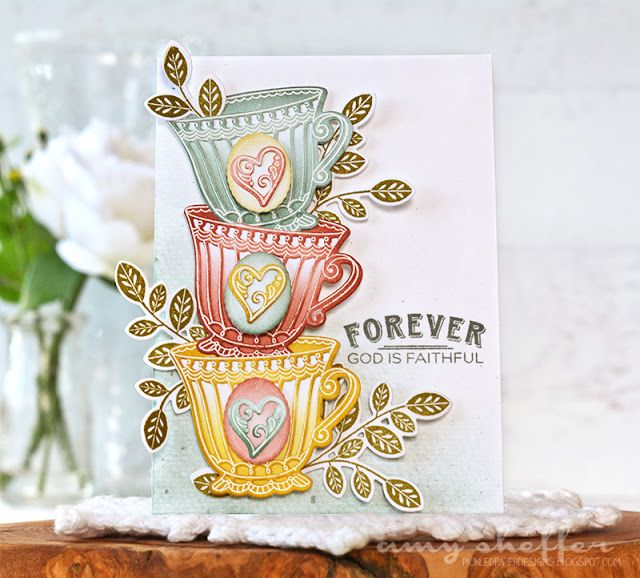 Forever God Is Faithful Card by Amy Sheffer for Papertrey Ink (August 2016)