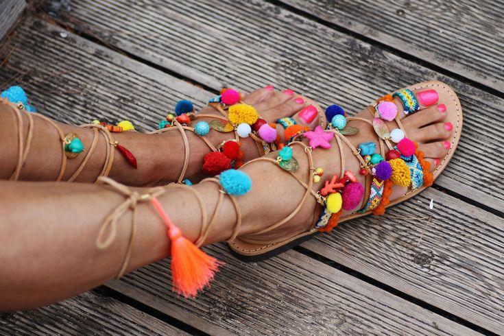 Tie up gladiator sandals Penny Lane'' handmade от ElinaLinardaki
