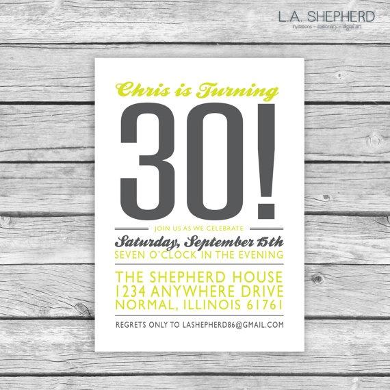 Adult Birthday Party Invitation by LAShepherd on Etsy, $15.00