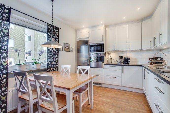 Swedish kitchen wooden floor