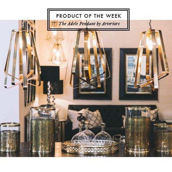 With a striking vintage brass design, the Adele Pendant is one of our much loved pieces from @arteriorshome. The Adele is back in stock and available to order now. #BoydBlue #Arteriors #luxury #pendant #vintage #brass #designer #lighting #instock #availablenow