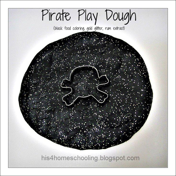 H is for Homeschooling: Black+ Treasure+ Rum = Pirate Play Dough!: Homeschooling, Idea, Pirates, Pirate Week, Plays, Play Dough, Black, Preschool