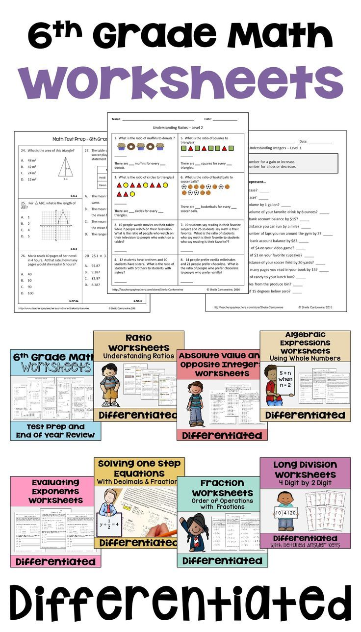 These 6th grade middle school math worksheets are common core aligned and  would be …   6th grade worksheets [ 1288 x 736 Pixel ]