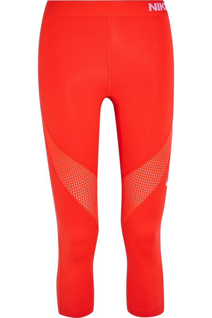 NIKE Pro Hypercool mesh-paneled stretch leggings