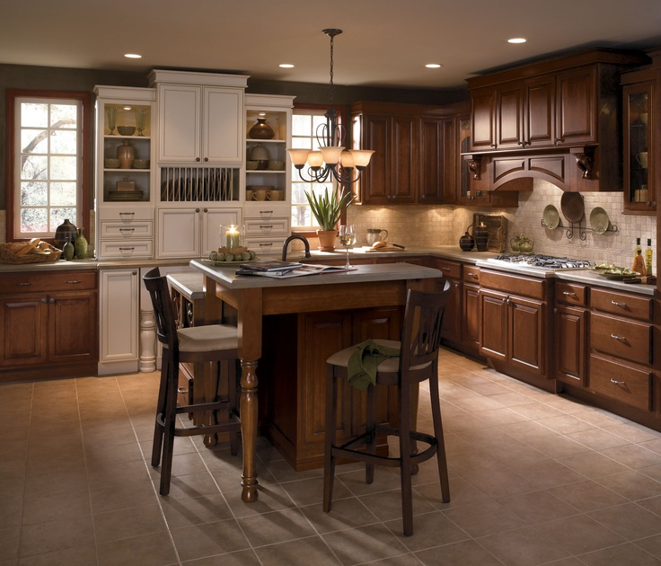 Kitchen Cabinets That Look Like Furniture: Bring Warmth Into Your Kitchen With Rich Color Like These