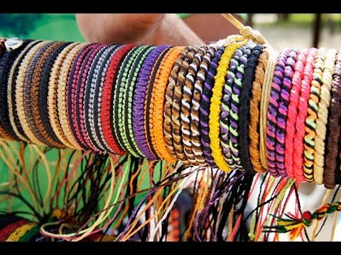 DIY - Friendship Bracelets (pulseira da amizade/hippie) - YouTube