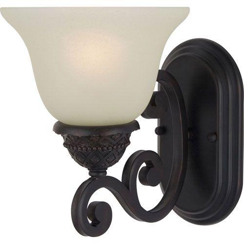 Symphony Oil Rubbed Bronze One Light Sconce With Soft Vanilla Glass Maxim Lighting Interna