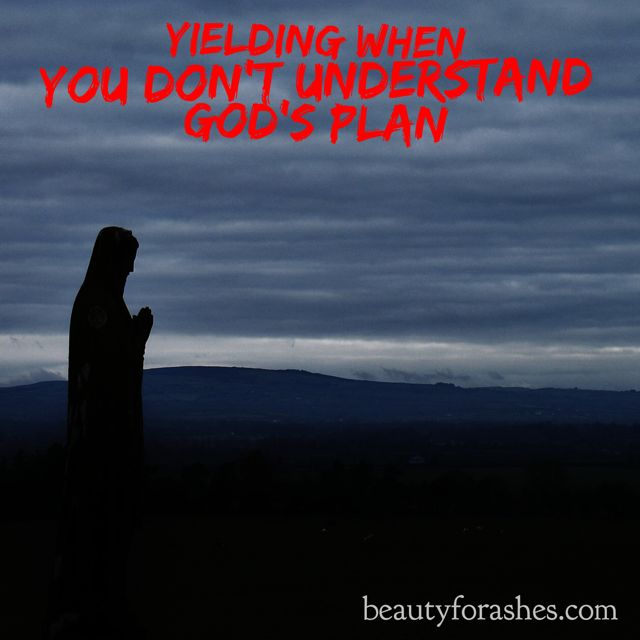 Yielding when you don't understand God's plan by Dikabo Mogopodi. Dikabo has a new and fresh take on the timeless story of Mary's reaction to the news of her impending pregnancy.