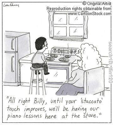 Piano teacher humor.
