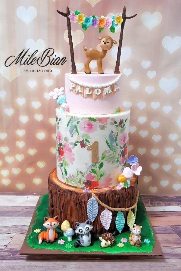 Woodland Beauty Cake By Milebian Geburtstag Torte Junge Kindertorte Torten Selber Backen