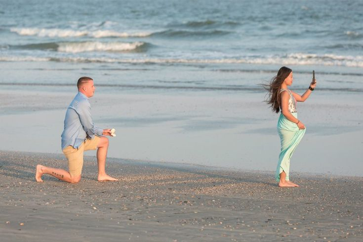 Beautiful beach proposal photographed and filmed!