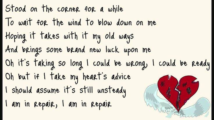John Mayer - In Repair (lyrics on screen).. <3 Another BRILLIANT John Mayer song <3
