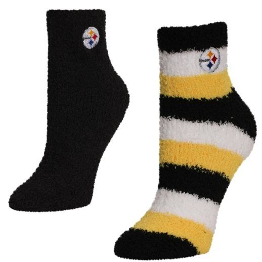 For Bare Feet Pitsburgh Steelers Women's Slippers 2-Pack Socks