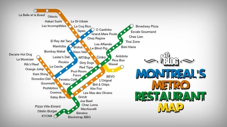 Montreal's First-Ever Official Metro Restaurant Map