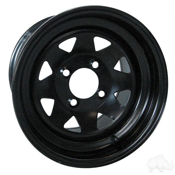 12x7.5 Black Steel Wheel