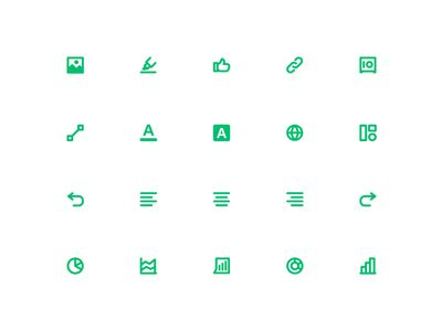 SM Product Icons #surverymonkey #green #survey #general #picture #set