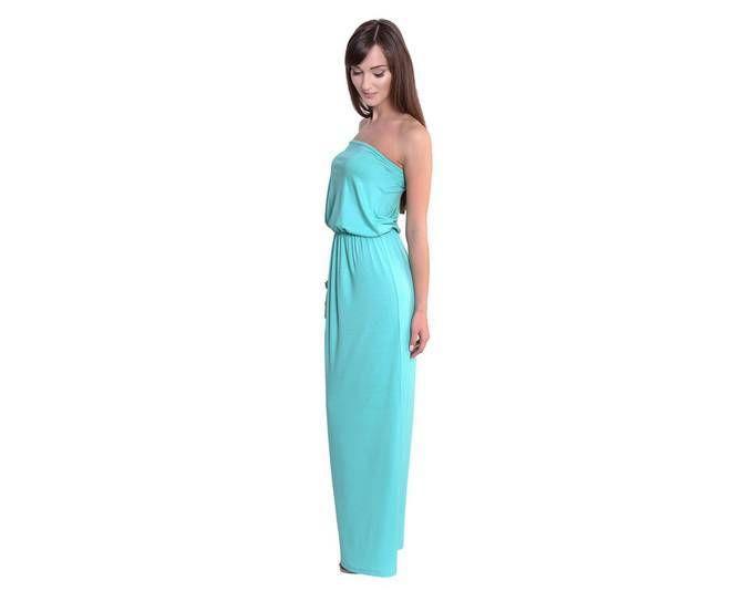 5bdd52621ef0 Damen Bandeaukleid Maxikleid Rückenfrei Sommerkleid Kleid Dress elastischer  Bund Gr. 36 38 40 42 ... Jetzt bestellen unter  ...