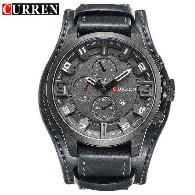 Original Top Men Sports Waterproof Quartz Watch Military Luxury Calendar Wristwatches