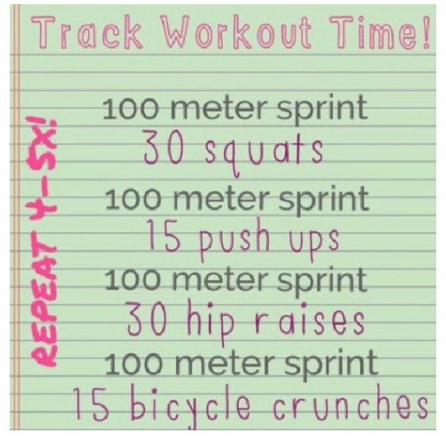 Track Practice Workouts For Middle School