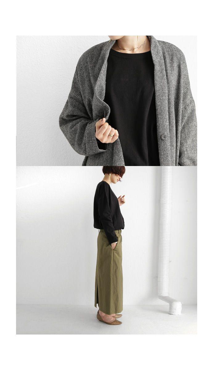 シンプルを長く着る 丈夫でへたらない バスク生地ロンt 12月27日20時 再販 100 メール便可 Ladies All Item Antiqua公式サイト 2020 ユニクロファッション 10着のワードローブ デニム ファッション