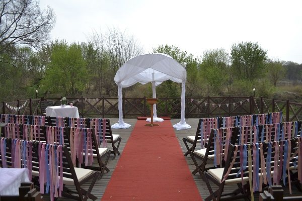 Wedding on Klip River Deck with beautiful view