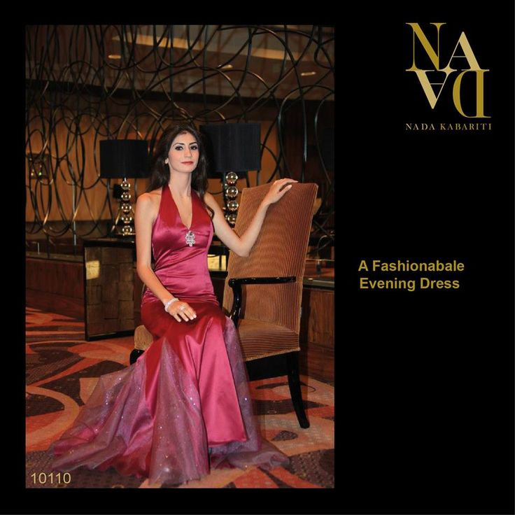 A Fashionable Evening Dress designed by Nada Kabariti. For orders contact: Jordan: 00962795086955 KSA & Bahrain: 00966597798178 Facebook: www.facebook.com/...