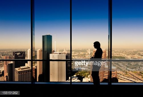 Stock Photo : Tourist looking the city