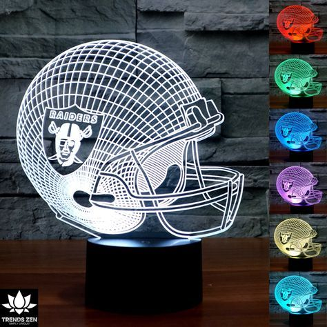 NFL Oakland Raiders 3D LED Lamp