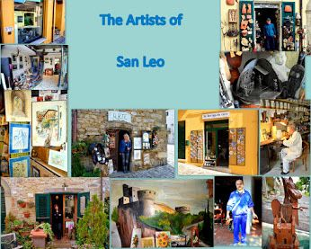 Poster of the Artist in San Leo                                    Photo by Bent Andersen