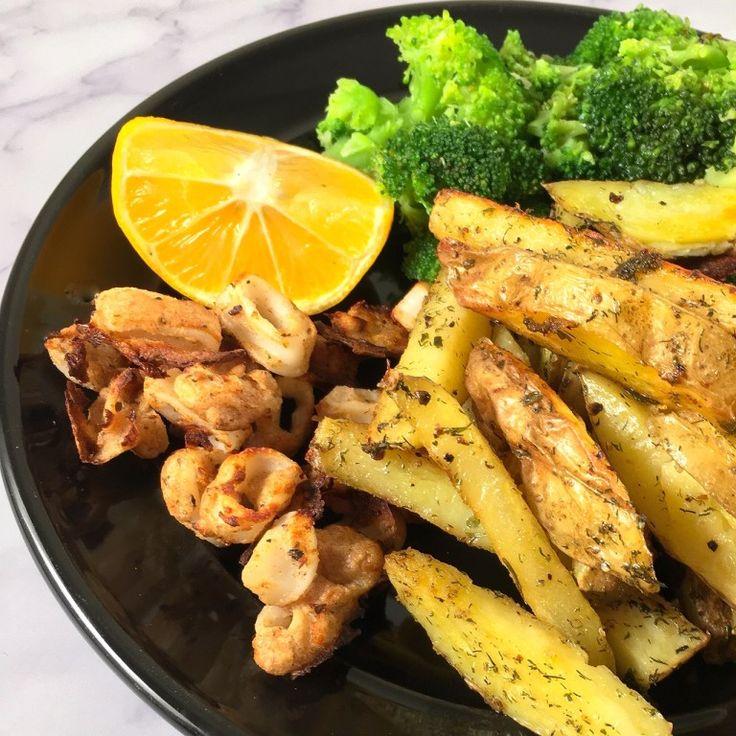 air fryer calamari meal in 2020 Crispy, Calamari recipes