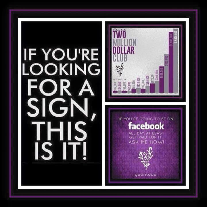 Here's the sign You've been Looking For!!  Join My Team today!!  You'll be Glad you did!!