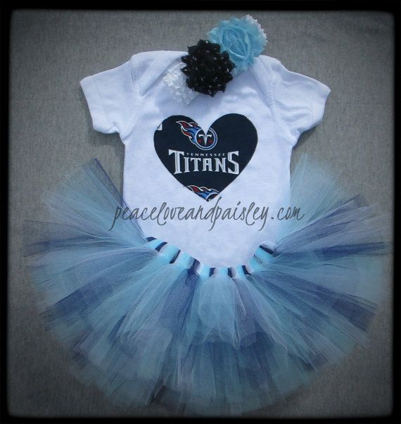 Tennessee Titans Tutu, Bodysuit and Headband Set Made from Tennessee Titans Fabric on Etsy, $34.00