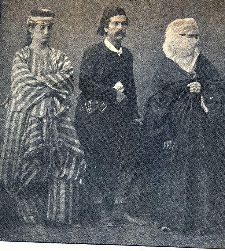 Rhodos, 1873. Man beachte das abgefahrene Gewand links!