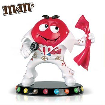 m&m images character | ... Presley Tribute M&M'S Characters Figurine: A Little M Conversation