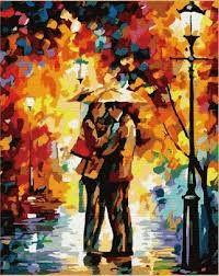 Resultado de imagen para pintura de pareja bajo la lluvia