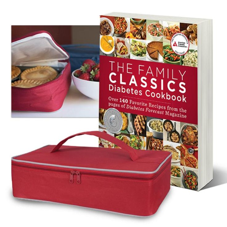 SET: The Family Classics Diabetes Cookbook and Insulated Casserole Carrier: The Family Classic Diabetes Cookbook has recipes, tips, and techniques from Diabetes Forecast magazine. Bundled with high-density insulated casserole carrier.